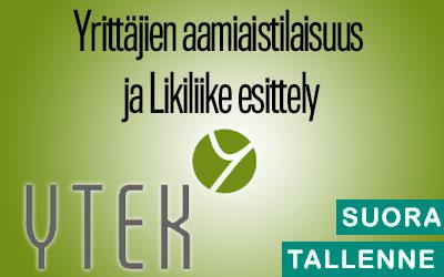 Yrittäjien aamiaistilaisuus ja Likiliike esittely 7.5.-19