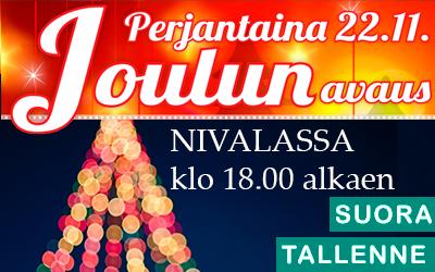 Nivala joulunavaus 22.11. klo 18