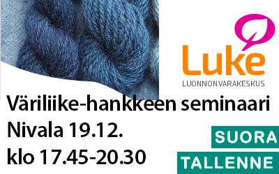 Väriliike-hankkeen seminaari 19.12.19 klo 17.45