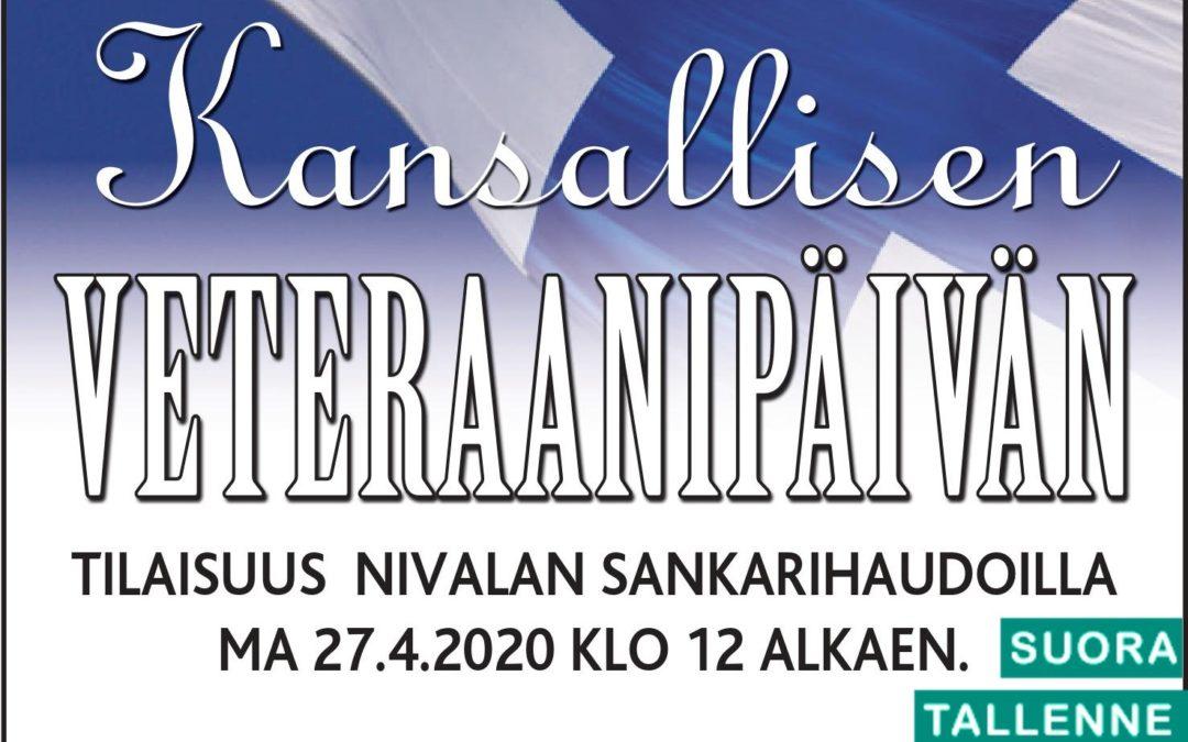 Kansallinen veteraanipäivä 27.4.2020, Nivala