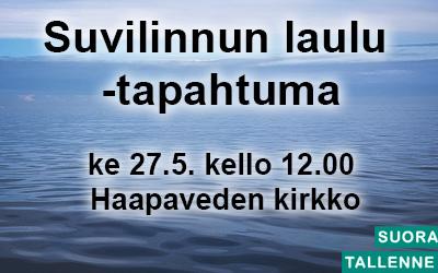 Suvilinnun laulu -tapahtuma 27.5.
