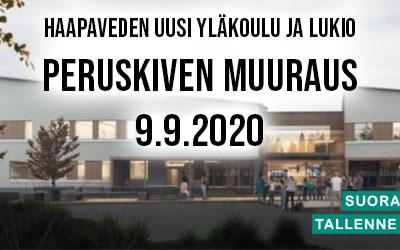Yläkoulun ja Lukion peruskiven muuraus Haapavesi 2020
