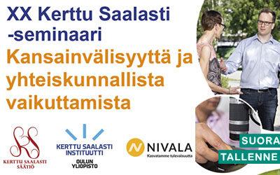 Kerttu Saalasti säätiö seminaari 21.9.2020