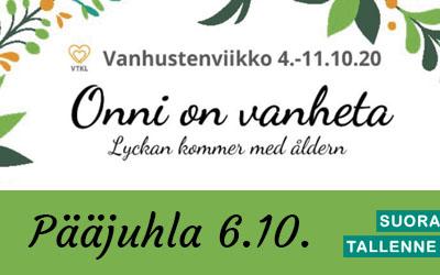 Kallion alueen vanhustenviikon pääjuhla 6.10.2020