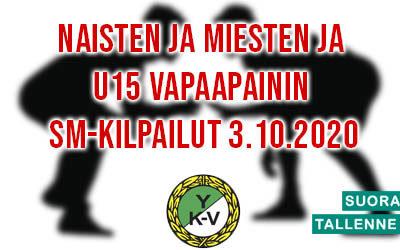 Naisten ja Miesten + U15 vapaapainin SM-kilpailut 3.10.2020