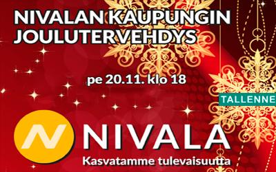 Nivalan kaupungin joulutervehdys 20.11.20 klo 18