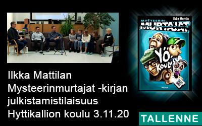Ilkka Mattilan Mysteerinmurtajat -kirjan julkistamistilaisuus 3.11.2020