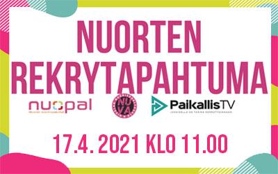 Nuorten rekrytapahtuma 17.4.2021 Nivala