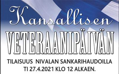 Kansallisen Veteraanipäivän tilaisuus Nivalassa